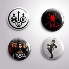 "4 MY CHEMICAL ROMANCE MCR - Pinbacks Badges Buttons 1"" 25mm"