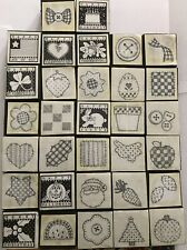 Rubber Stamp Kit Greeting Card Crafter Scrapbook Teacher 32 Stamps
