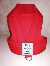Oivia Cat Jacket walking safety harness, Red
