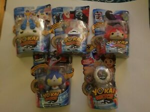 YO-KAI Watch Lot 4 Figures With Medals And 1 Watch NEW In Package