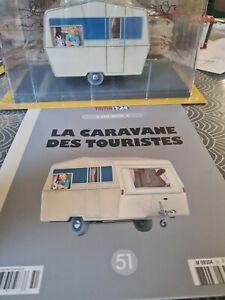 VOITURE MINIATURE 1/24  eme   TINTIN  n°51 la caravane des touristes Neuf 1
