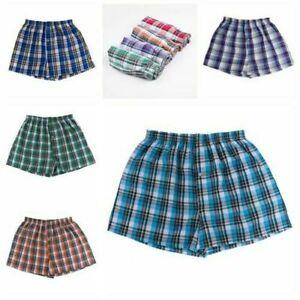 Men's Sports Stretch Cotton Briefs Boxer Breathable Grid Underwear Shorts     l