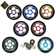 2 PRO KICK STUNT SCOOTER WHEELS SOLID METAL CORE 110mm ABEC 9 BEARING 11 100mm