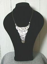 Kette mit Metall Halskette Lagenlook- Kette Collier Neu