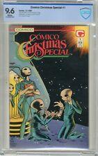 Comico Christmas Special #1  CBCS  9.6  NM+  White pgs    12/88  Story by Dougla