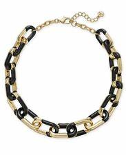 ALFANI gold-tone & black link statement necklace