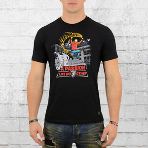 PG Wear Fussball Stadion T-Shirt Passion schwarz Herren Tshirt Hooligans Ultras