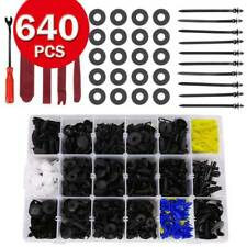 640Pcs Car Body Trim Clips Retainer Bumper Rivets Screw Panel Push Fastener Kit