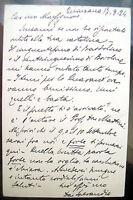 1924 CARTOLINA POSTALE AUTOGRAFA DEL PARROCO DI QUINZANO IL FAMOSO DON SPERANDIO