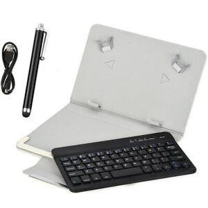 Clavier Bluetooth universel   pour tablette PC de 7 à 8 pouces, blanc