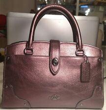 NWT COACH 37779 Mercer Satchel 24 Dark Bronze Grain Leather - Retail $295