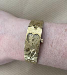 Limit Ladies Vintage Watch (17 Jewels) WORKING Mechanical Gold Tone HEART Watch