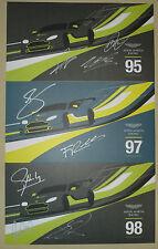 Le Mans FIA WEC Silverstone 2016 Aston Martin Racing Vantage GTE Signed Card Set