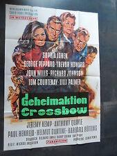 GEHEIMAKTION CROSSBOW - Filmplakat A0 - Sophia Loren, Lilli Palmer, John Mills