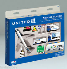 Diecast United Airlines Continental Merger Boeing 777 13 pc Set Stair & Catering
