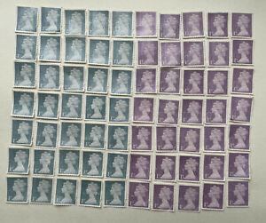 70 x UNFRANKED 1st class stamps OFF paper. No Gum -  Face Value £59.50 - Bargain