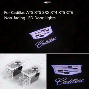 Non-Fading Car LED Door Laser Projector Logo Lights For Cadillac ATS XTS 2013-19