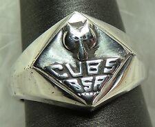 Vintage VARGAS CUBS BSA Scout Sterling Silver 0.925 Estate Ring size 5.5