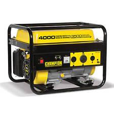 46596R - 3500/4000w Champion Generator, manual start, RV ready - REFURBISHED