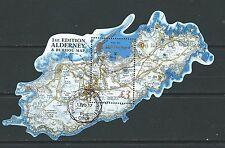 Alderney 2017 aurigny et Burhou carte miniature feuille fine used