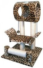 Go Pet Club Cat Tree Condo House, 18W x 17.5L x 28H Inches, Leopard, New