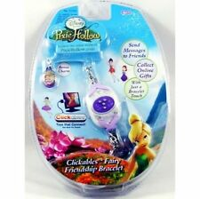 Disney Pixie Hollow Clickables Purple Fairy Friend Bracelet And Bonus Charm New