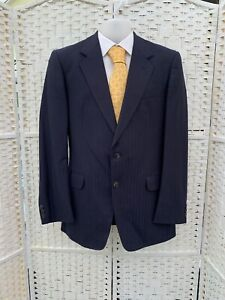 City of Westminster heavy made to Measure Men's VTG wool blue suit 40R W37 L30