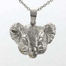 Koala Bear Head Pendant Large Size, Sterling Silver 925, #2741
