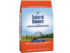 Natural Balance Grain Free Sweet Potato & Fish Formula All Breeds Dog Food 13lbs