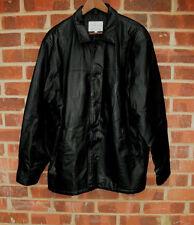 Authentic Leathers Mens Black Leather Jacket size L
