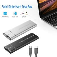Universal Type-C USB 3.1 NVME Solid State SSD Box Hard Disk Case 10Gbp Enclosure