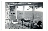 RPPC Olsen's Motel and Cabins, Tofte, MN Real Photo Postcard *5D