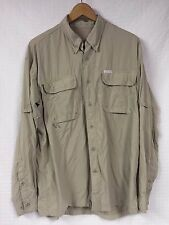 Men's COLUMBIA GRT OmniDRY Button UP Shirt Fishing Hiking VENTED X-Large XL
