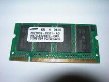 Barrette mémoire SAMSUNG 512 MO SO-DIMM DDR PC2700S