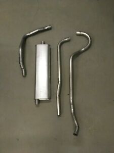 1955, 1956, 1957 Chevy 6 Cylinder Hardtop Factory Correct Single Exhaust System