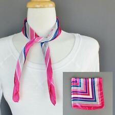 Satin silky feel square scarf wrap neckerchief hair headband tie kerchief stripe