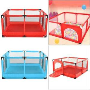 4 Sides Baby Playpen by house & Round Zipper Door Play Pen for Toddlers