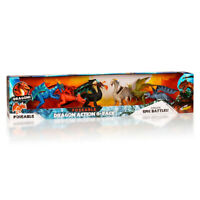 Dragons Action 6 Pack Brand New poseable kid galaxy
