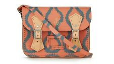 BNWT VIVIENNE WESTWOOD SMALL CAMBRIDGE SATCHEL - SQUIGGLE PATTERN coral/grey
