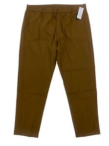 NEW Lacoste Elastic Waist Casual Chino Pants Trousers Dark Brown Mens Size 42