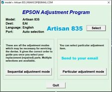 RESET EPSON ARTISAN 835✅reset waste ink counter 100%🔥1Pc key, UPDATED VER⭐⭐⭐⭐⭐