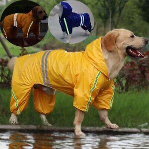 Large Dog Raincoat Rain Coat Jacket Dog Overalls Clothes Small Medium Pet Outfit