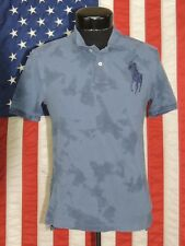 Polo Ralph Lauren Shirt Top Mesh Tie Dye Blue Big Pony Boys Kids Large 14-16
