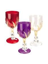 Halloween Weinglas Skull rot weiß lila Horror Party Fasching Karneval