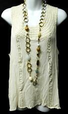 Maurices ivory crochet crew neck sleeveless plus size top 2,2X