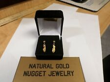 Natural Gold Nugget post dangle earrings. 1&1/2 Grams Total Weight!