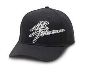 Suzuki GSX1300R Hayabusa Kanji Embroidered Logo Snap Back Hat Black