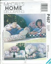 M 9665 sewing pattern KID CHAIRS with optional Pillow Forms sew FUN for children