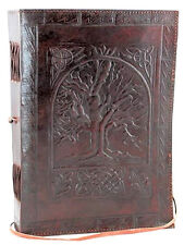 Vintage Leather Antique Book Cover Blank Book Diary Journal 200 Pages Premium