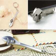 Tool Wrench Spanner Model Keychain Key Ring Metal Adjustable Key Chain